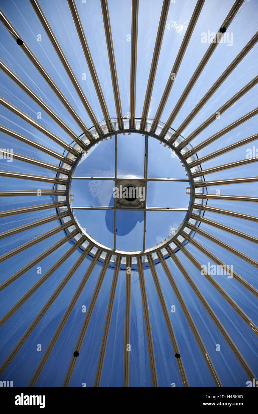 Roof, window, from below, architecture, - Stock Image