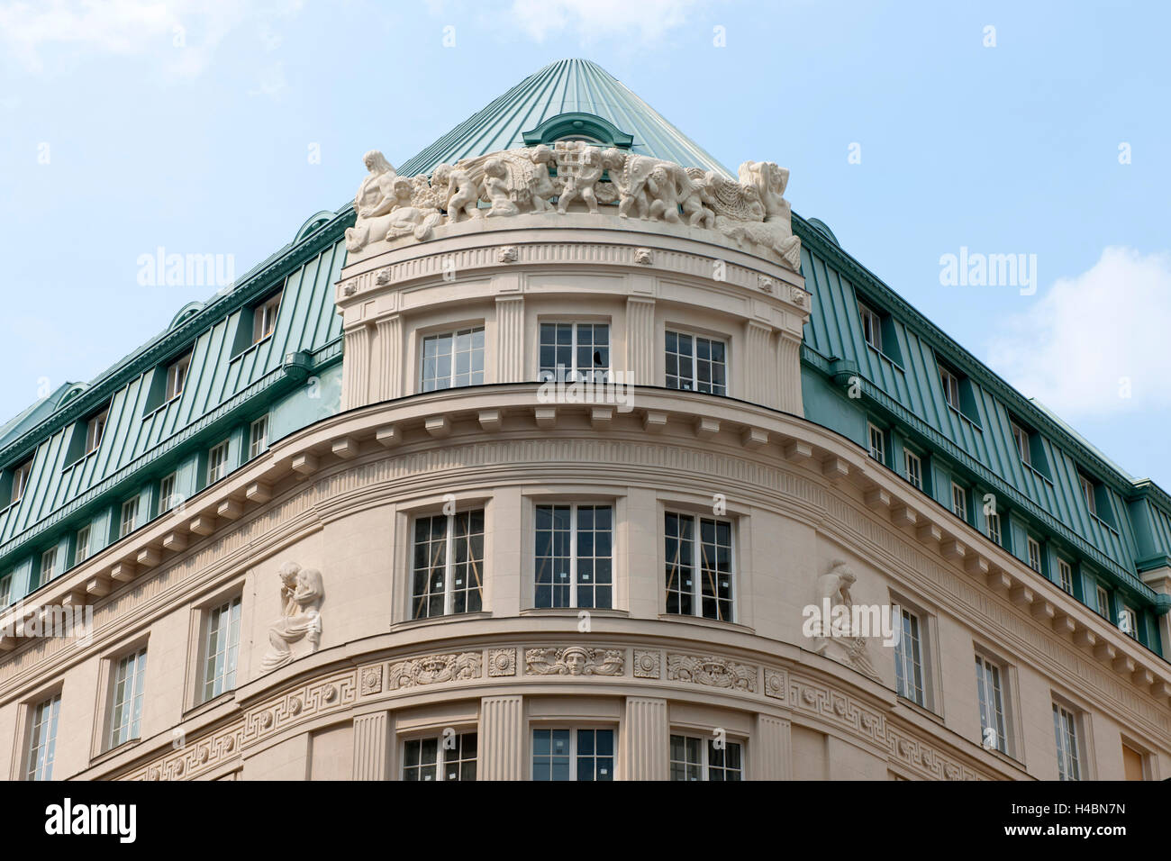 Austria, Vienna I, bowmaker's lane / lane Seitzer, building of the former country bank, in 1913-15, architect - Stock Image