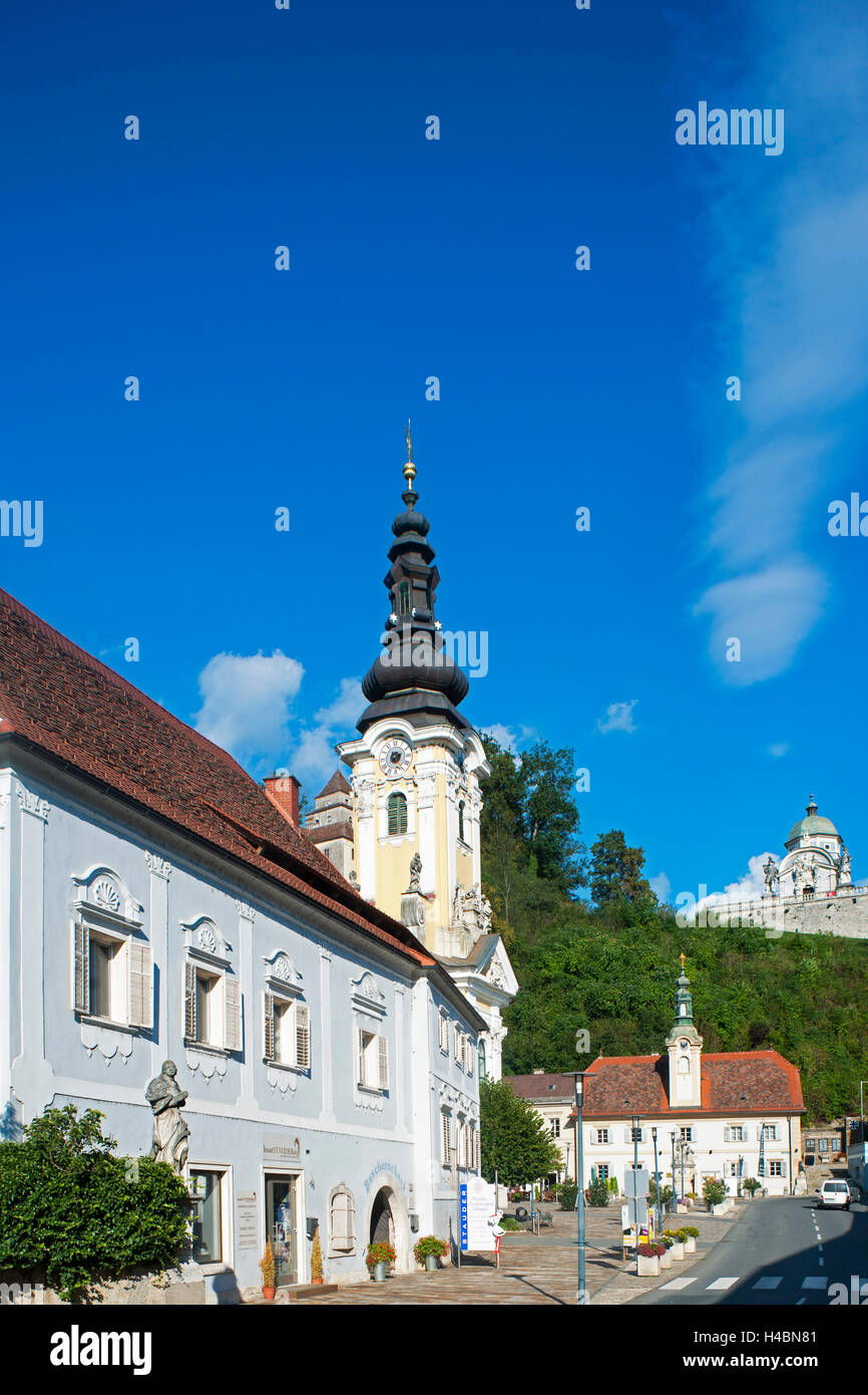 Austria, Styria, area of Leibnitz, Ehrenhausen, parish church and pilgrimage church, builds in the rococo style - Stock Image