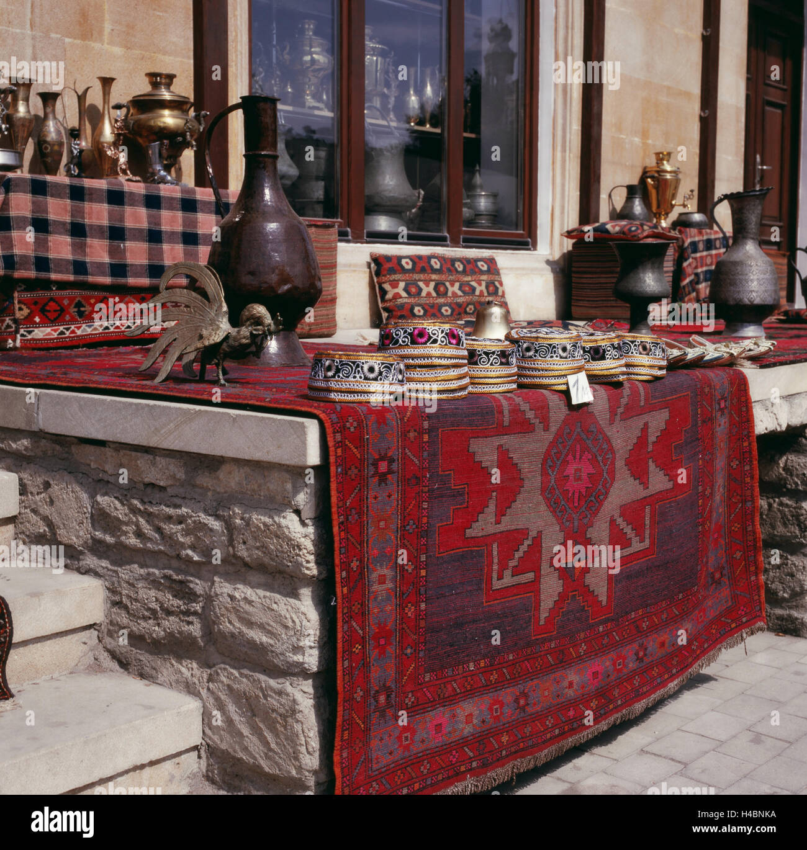 Souvenir sale in Baku - Stock Image