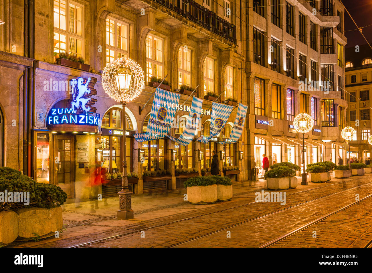 Deutschland, Bayern, Oberbayern, München, Lehel, Perusastraße, restaurant 'Zum Franziskaner', - Stock Image