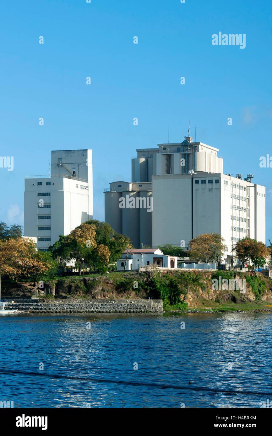 The Dominican Republic, Santo Domingo, grain mill (Molinos Dominicanos) on the area of the first settlement La Nueva - Stock Image