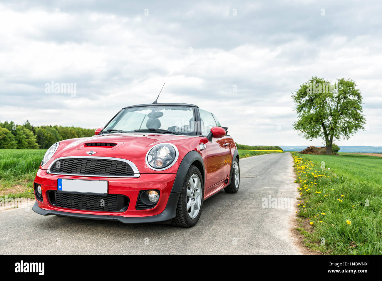 Breuberg, Hesse, Germany, Mini Cooper S convertible, year of manufacture 2015, - Stock Image
