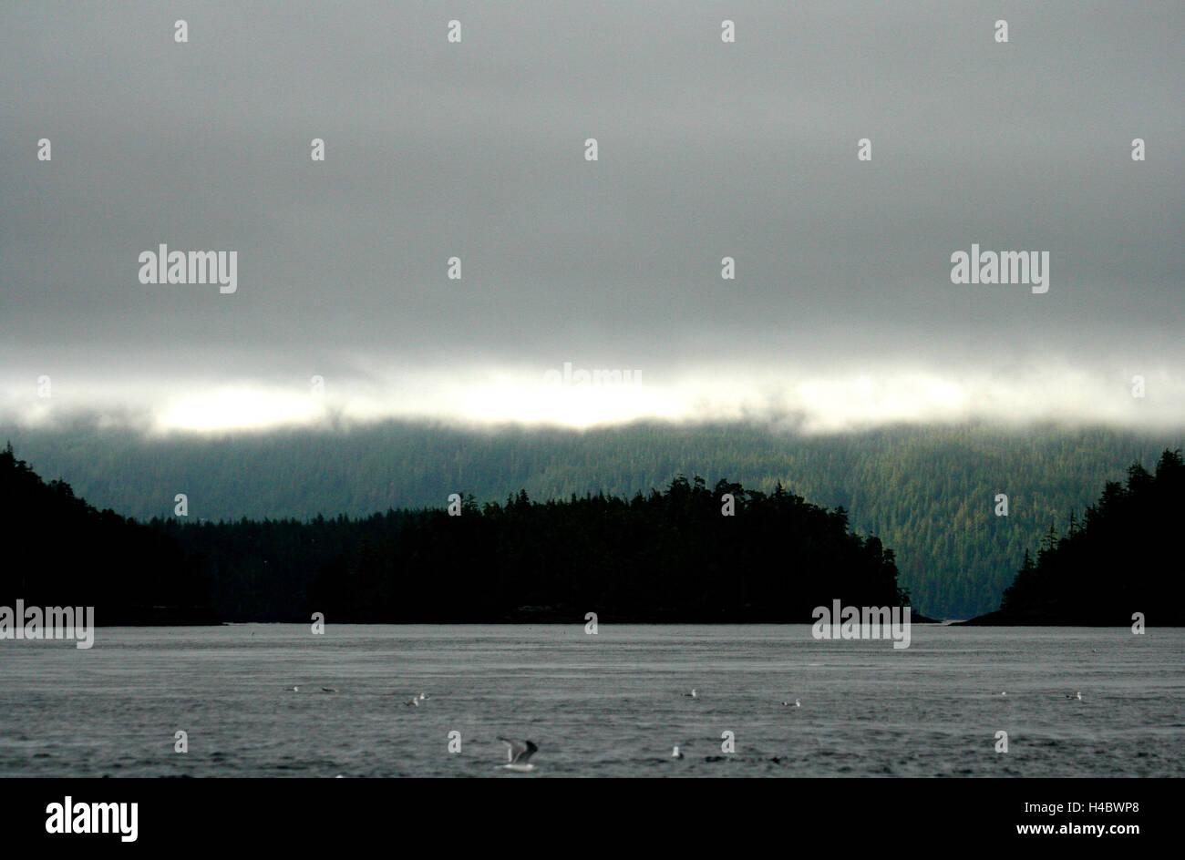 Johnstone strait. Vancouver island. British Columbia. Canada - Stock Image