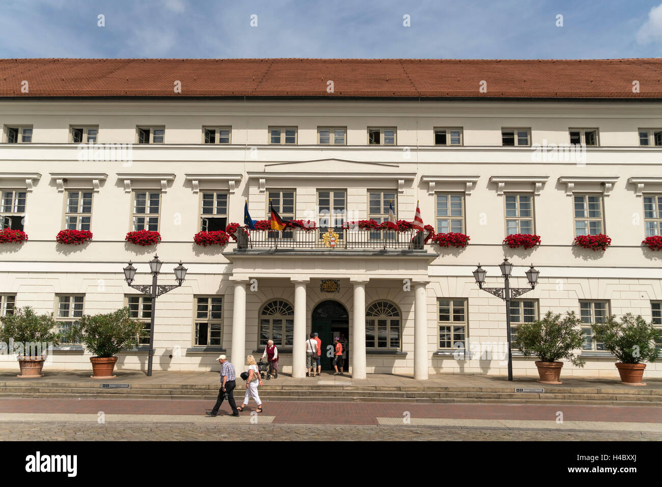 city hall,  historic old town, Hanseatic City of Wismar, Mecklenburg-Vorpommern, Germany - Stock Image