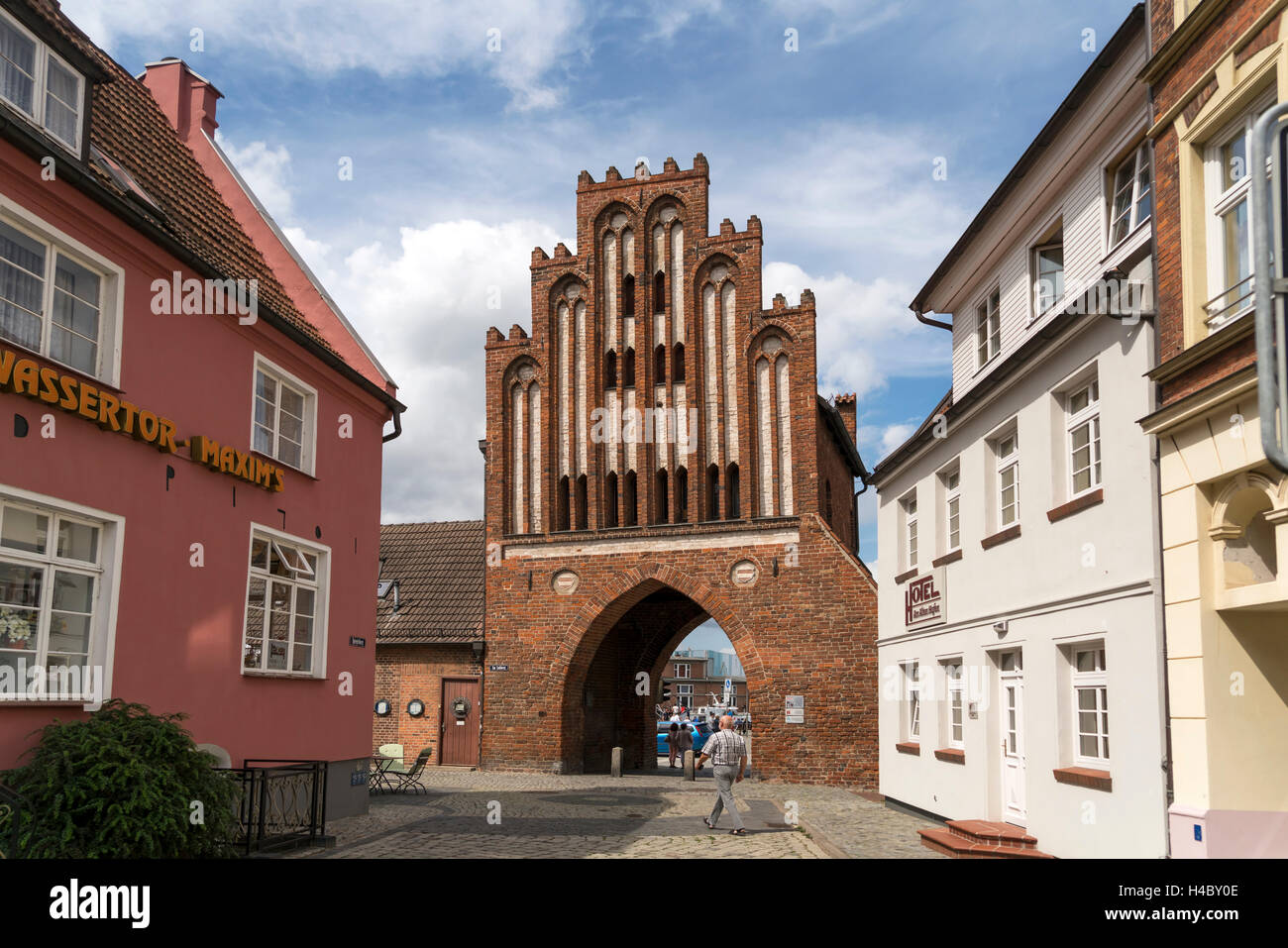 city gate  watergate, Hanseatic City of Wismar, Mecklenburg-Vorpommern, Germany Stock Photo