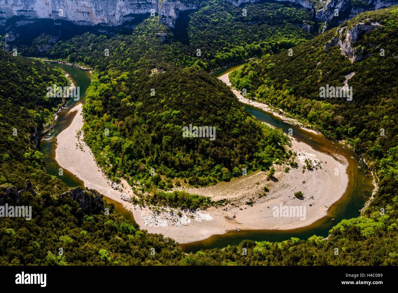France, Rhône-Alpes, ArdÞche, Saint-Martin-d'ArdÞche, Gorges de l'ArdÞche, Cirque de - Stock Image