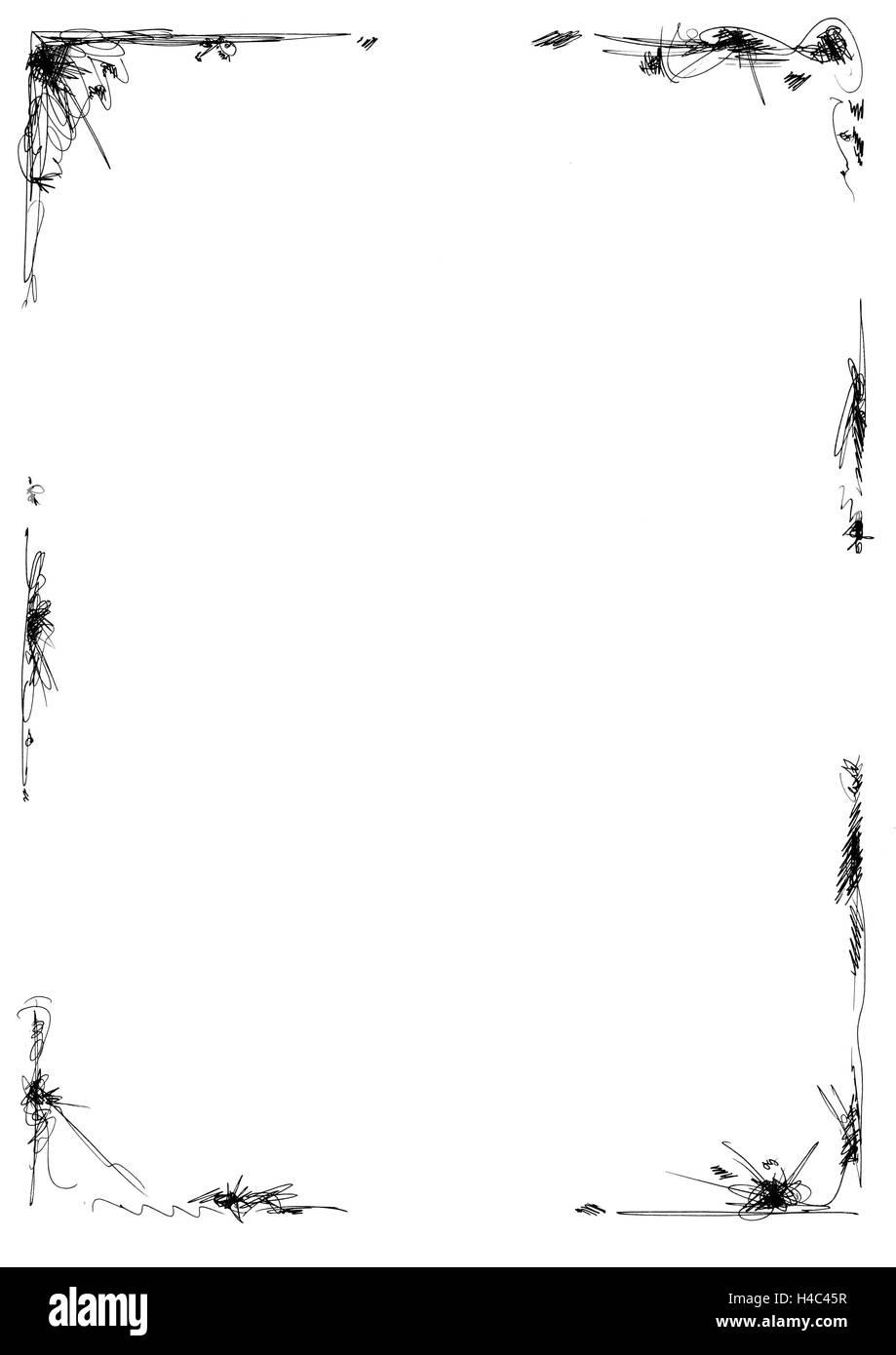 Menu card with a simple frame Stock Photo: 123197923 - Alamy