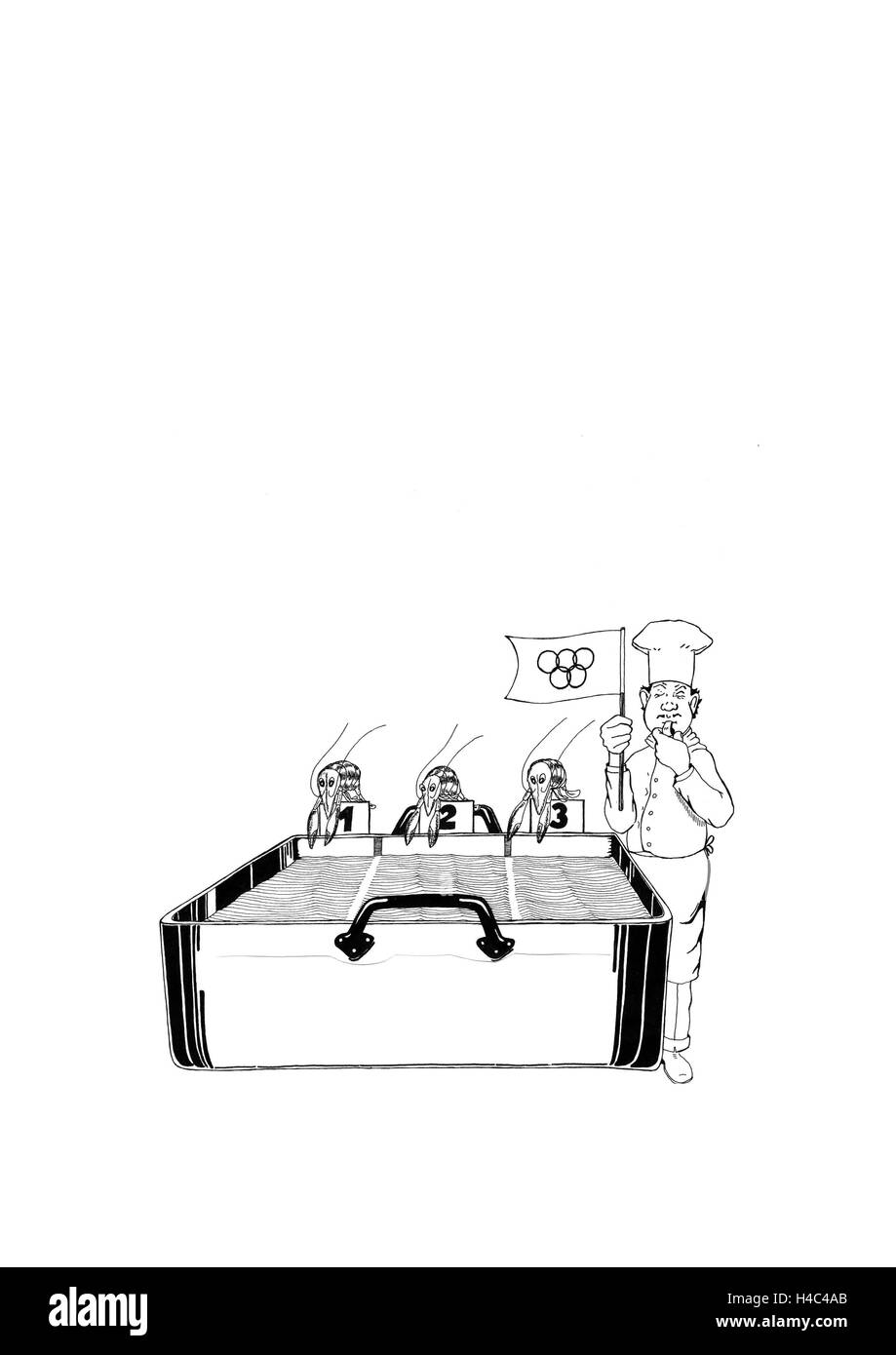 Scampi Olympic Games - Stock Image