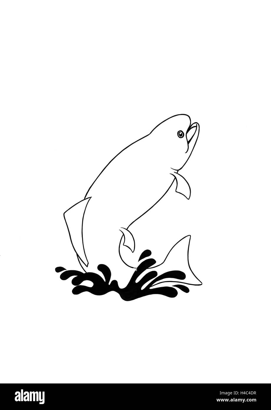 Jumping fish - Stock Image