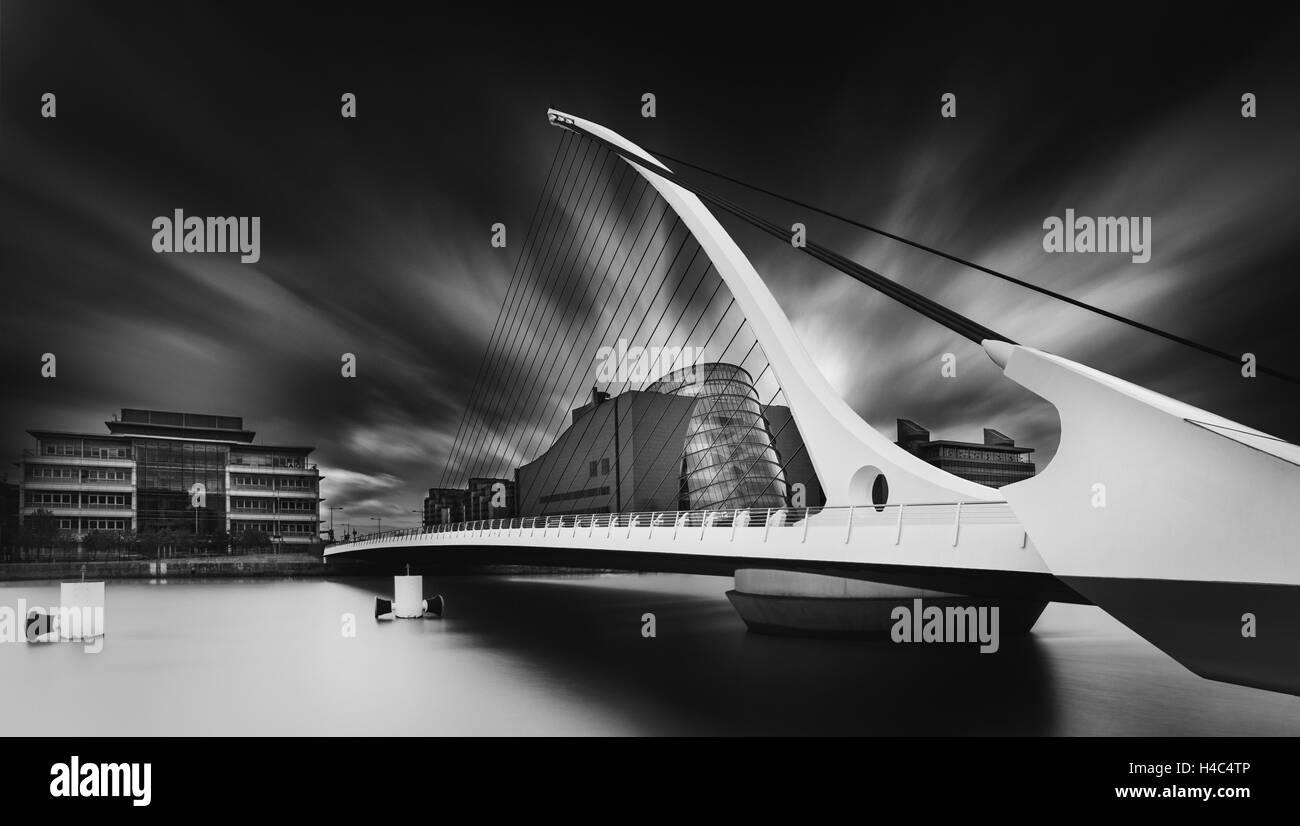 Samuel Beckett bridge in Dublin, Ireland - Stock Image