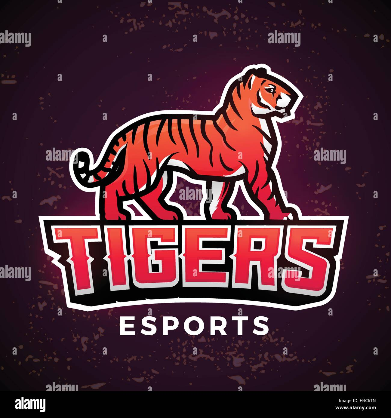 premade tiger mascot vector sport logo design template football or