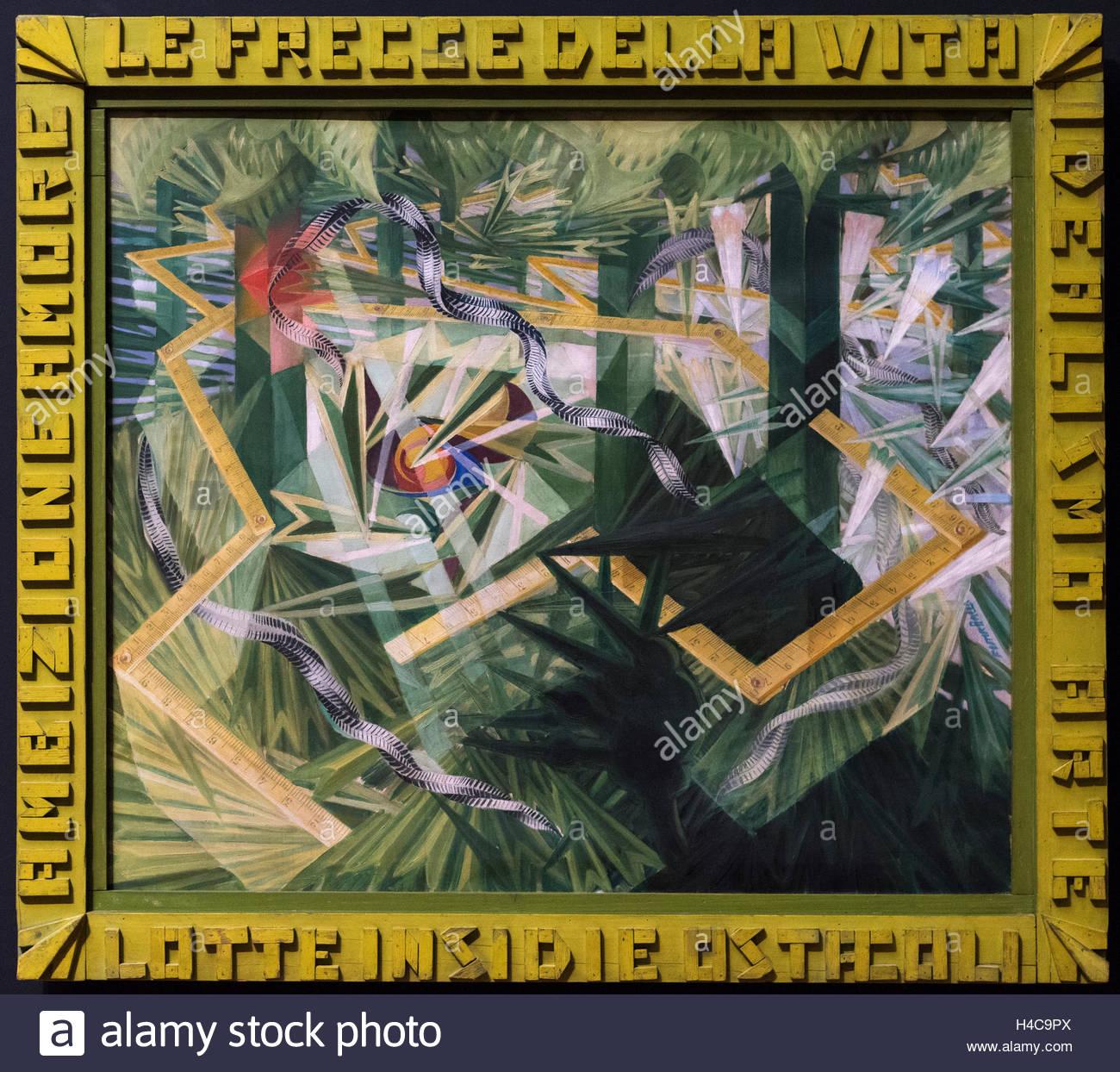 Giacomo Balla (1871-1958), Le frecce della vita, 1928. The arrows of life. - Stock Image