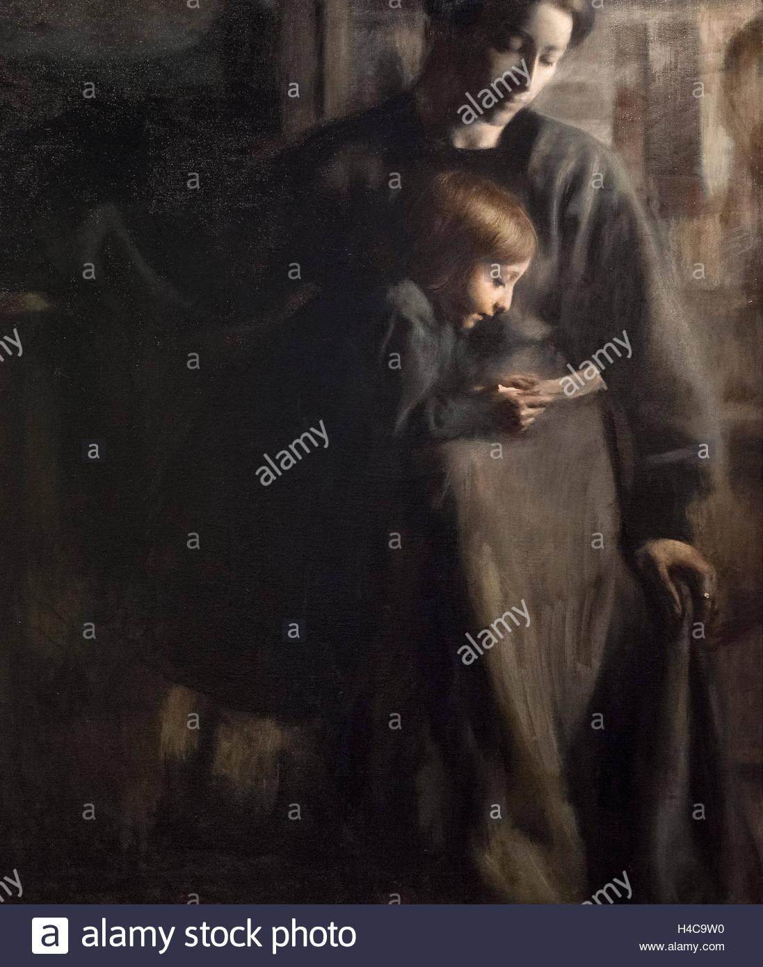 Giacomo Balla (1871-1958), Affetti (1910), detail. Affections. - Stock Image