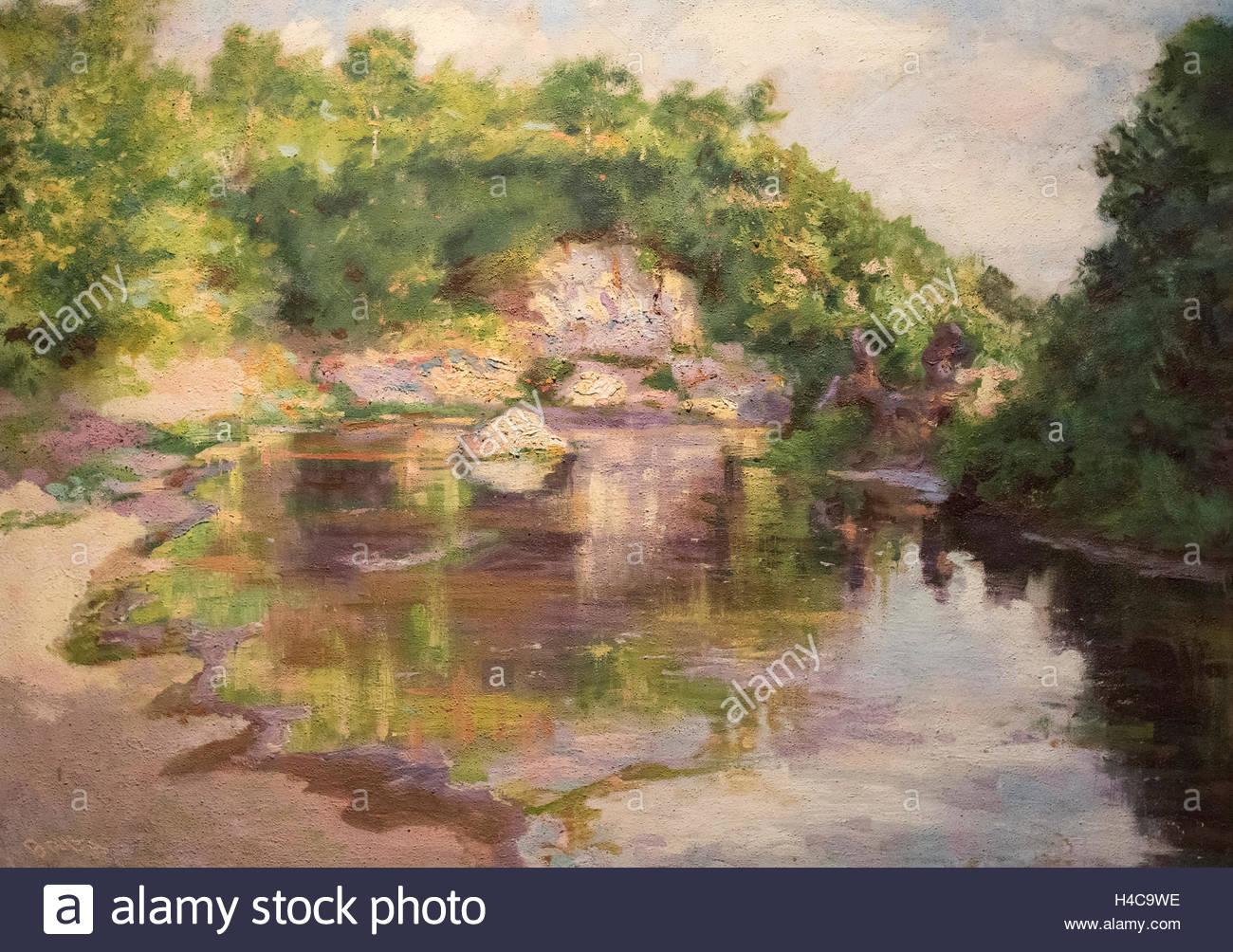 Giacomo Balla (1871-1958), Il ruscello di Borghetto, 1938. The Stream of Borghetto - Stock Image