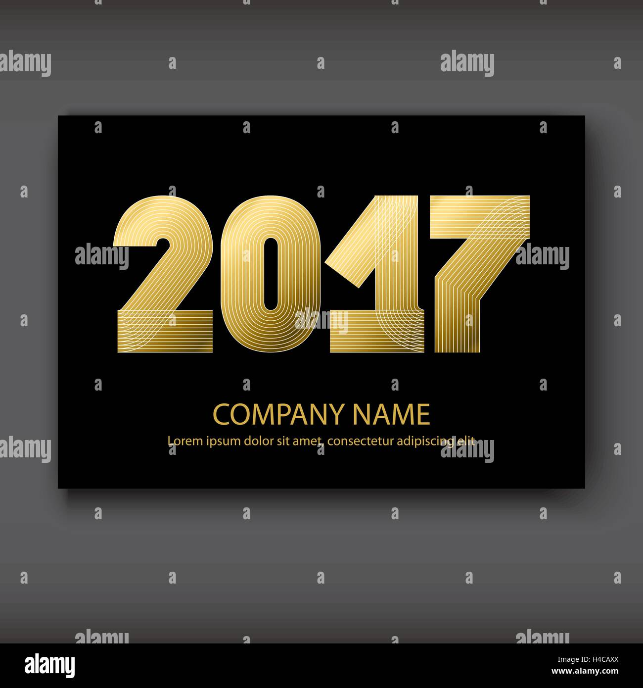 cover annual report numbers 2017 modern design gold on black background year 2017 in