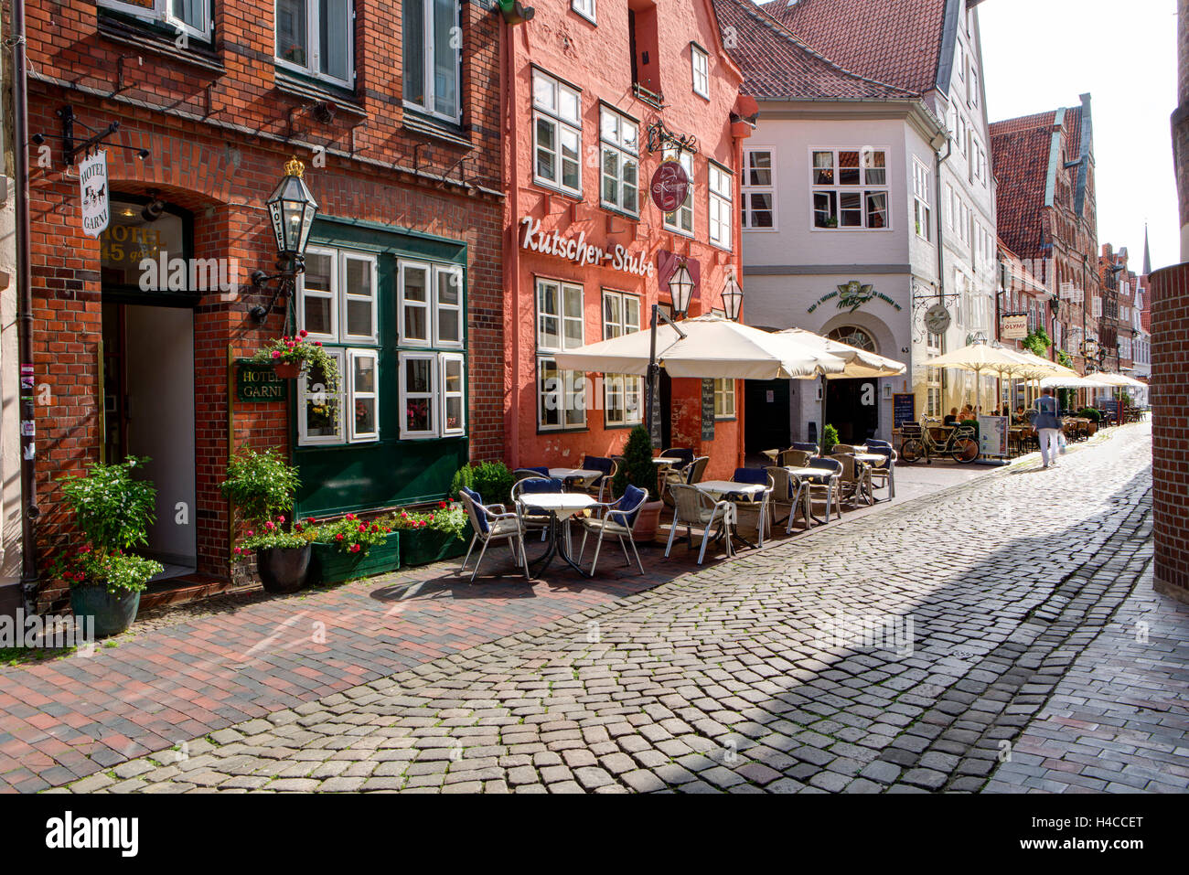 India House Lüneburg front of house restaurant stock photos front of house restaurant