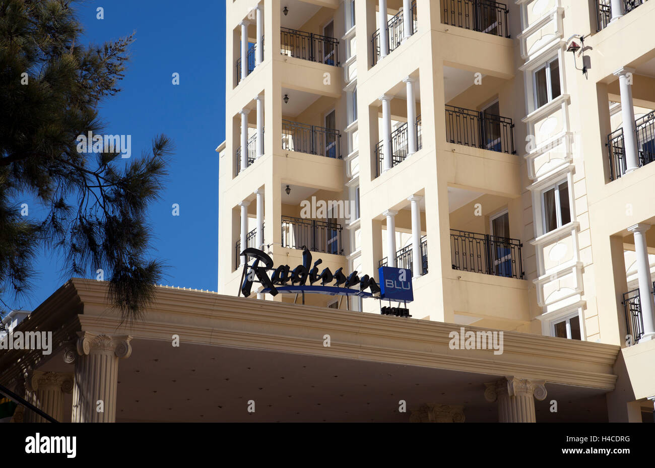 Radisson Blu Hotel in Sea Point - Cape Town - South Africa - Stock Image
