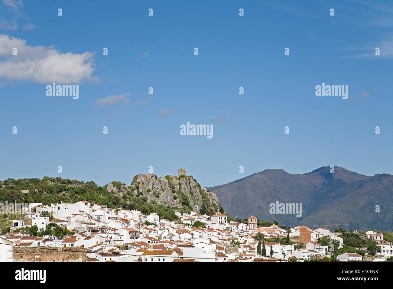 Gaucín, Serranía de Ronda, Málaga Province, Andalusia, Spain - Stock Image