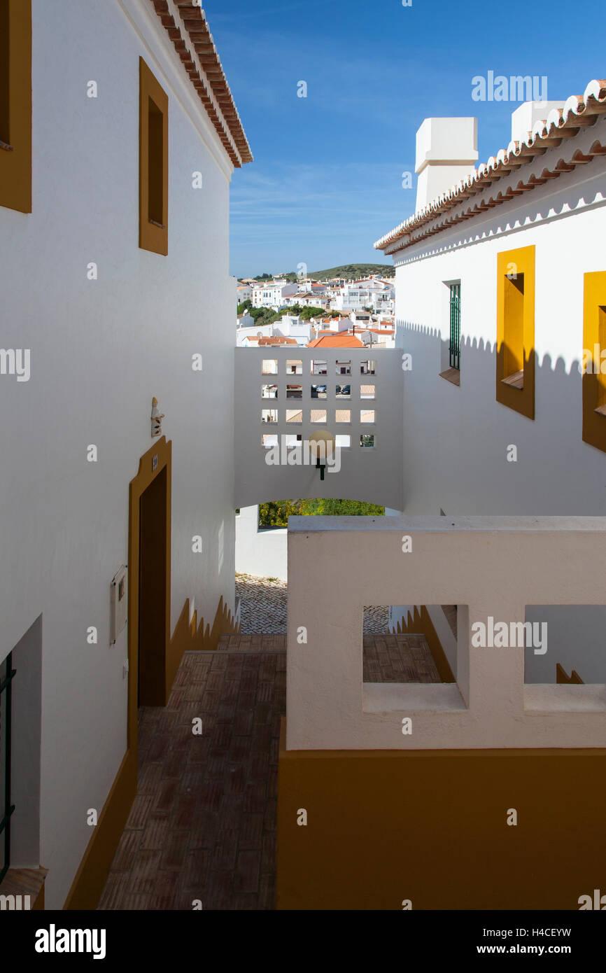 Village Burgau in the Parque Natural do Sudoeste Alentejano e Costa Vicentina, Algarve, Portugal, Europe Stock Photo