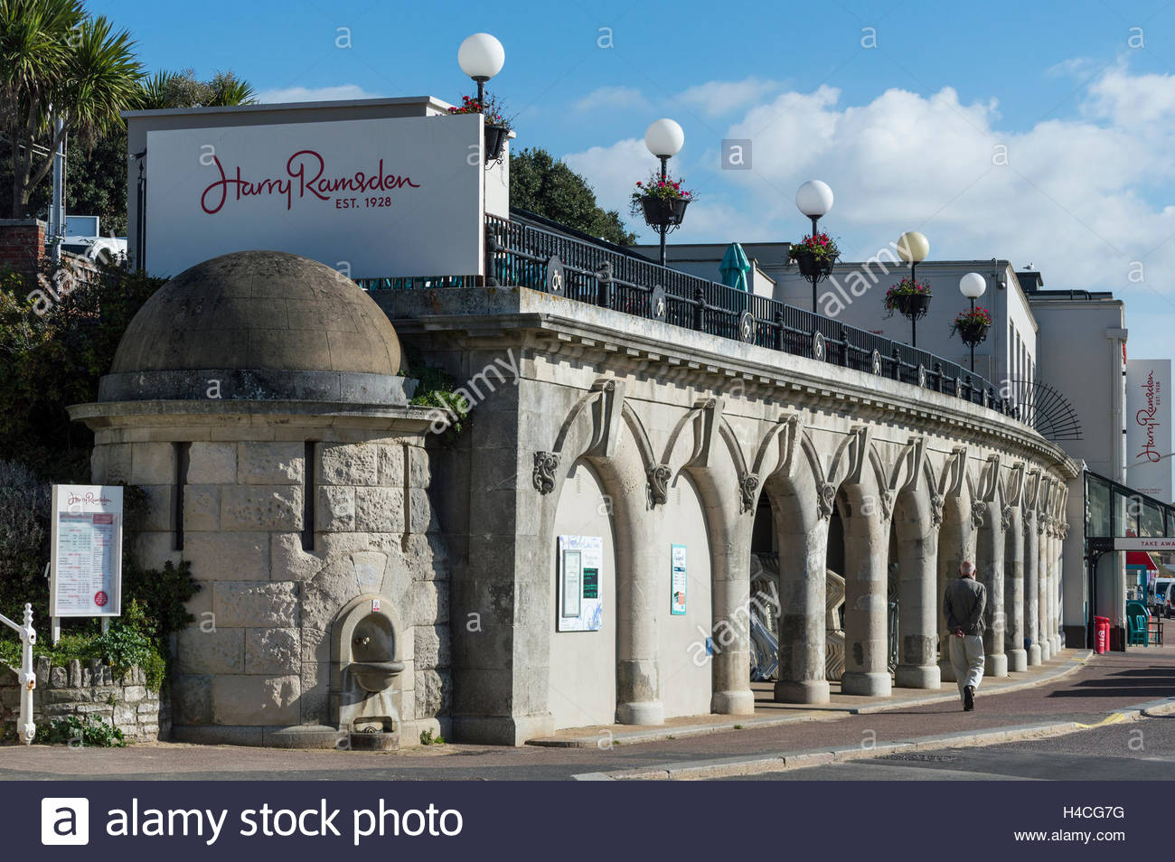 Harry Ramsden Fish and Chip shop on Bournemouth Sea Front, Dorset, England, UK, GB, United Kingdom, Great Britain, Stock Photo