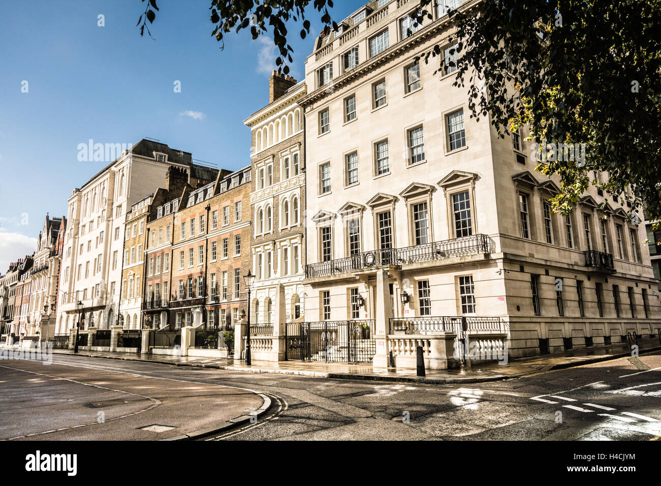 Buildings surrounding Lincoln's Inn Fields, the largest public square in London. Stock Photo