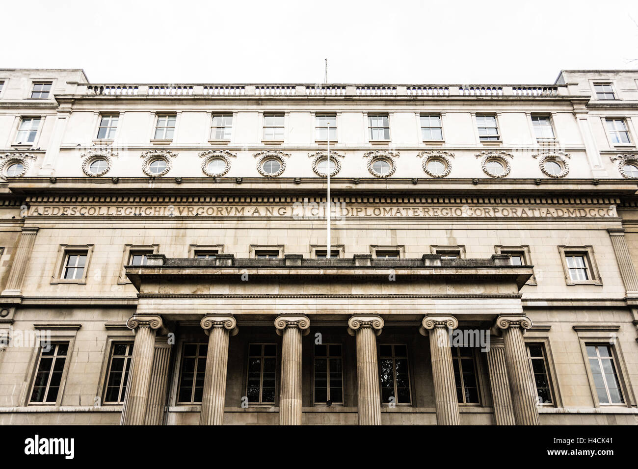 Royal College of surgeons of England on Lincoln's Inn Fields, London, UK - Stock Image