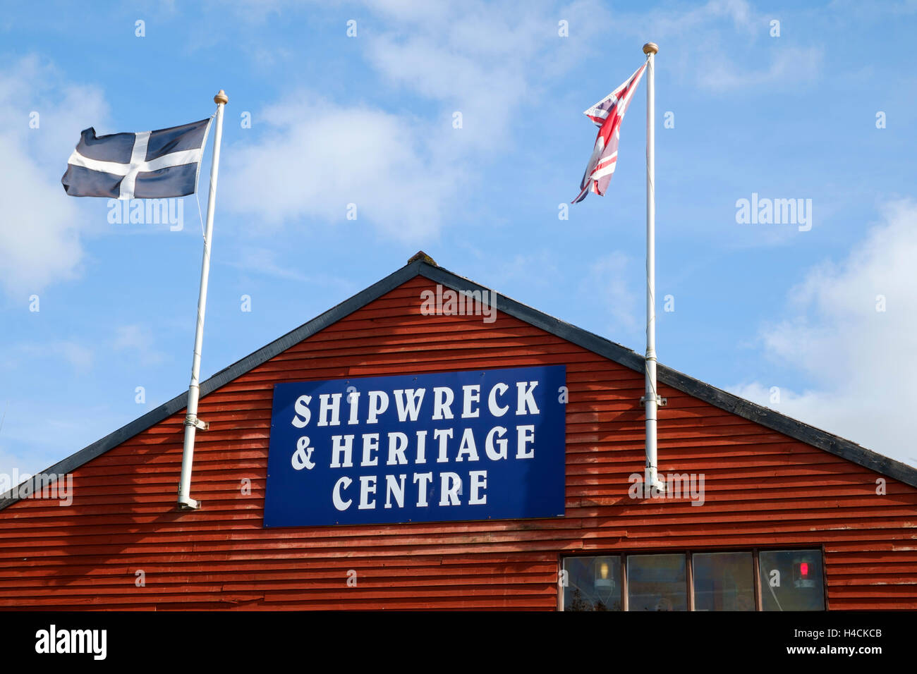 Shipwreck and Heritage Centre, Charlestown, Cornwall, England, UK - Stock Image
