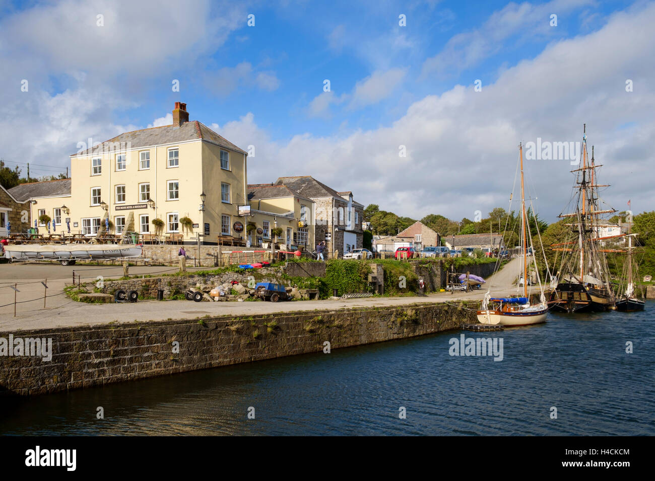 Charlestown harbour, Cornwall, England, UK - Stock Image