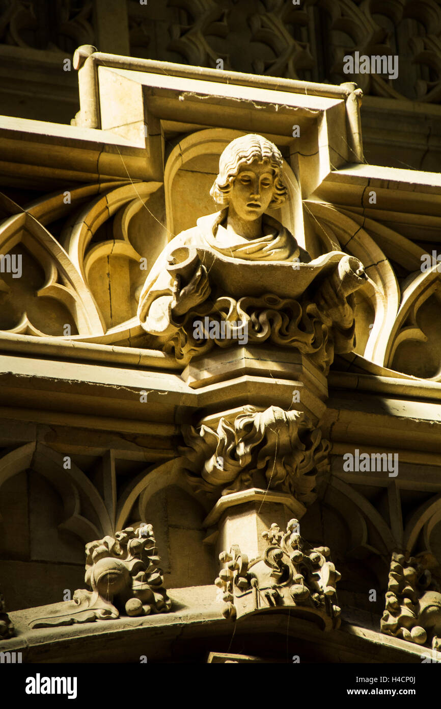 Prague, reading angel in the gallery the St. Veits cathedral - Stock Image