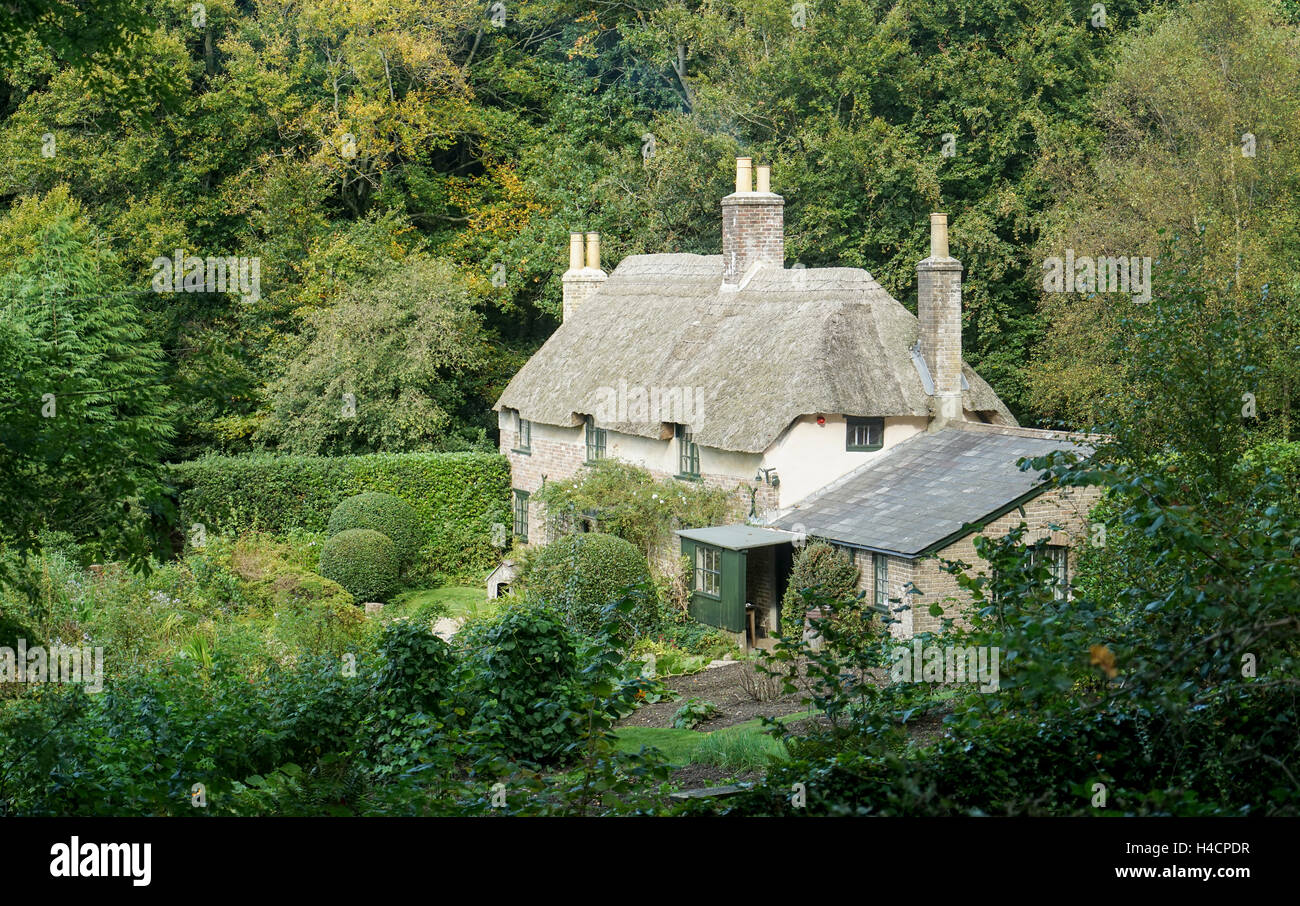 Thomas Hardy's Thatched Cottage, Dorset -1 - Stock Image