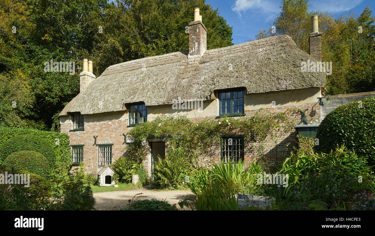 Thomas Hardy's Thatched Cottage, Dorset -2 - Stock Image