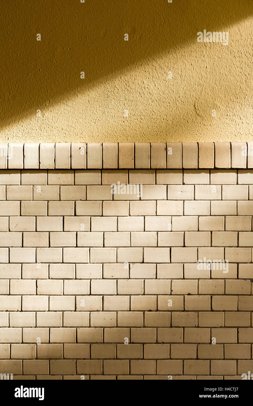 olds monochrome tiled wall Stock Photo