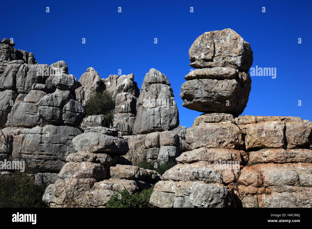 Tablespoon goal cal, Paraje Natural goal cal de Antequera, is of a 1171-ha-nature reserve with unusual two-pronged - Stock Image