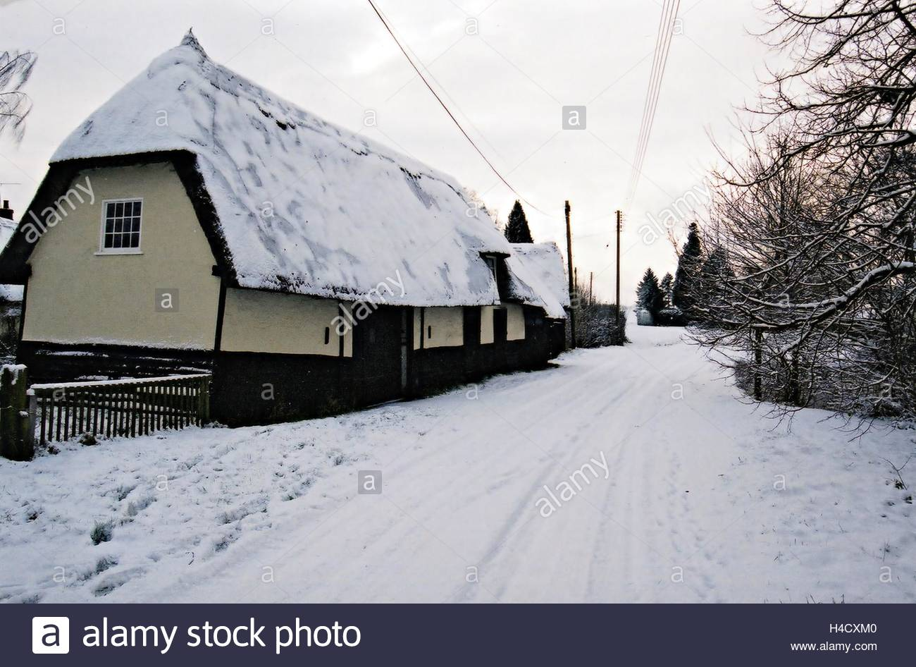 Bacon End in the snow Stock Photo
