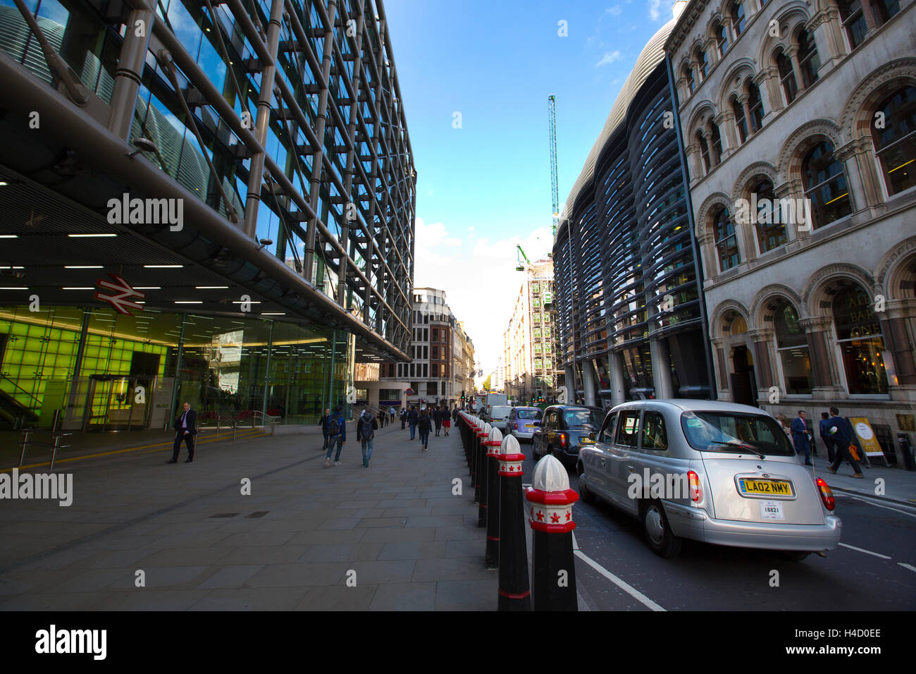 Cannon Street, City of London, England, UK - Stock Image