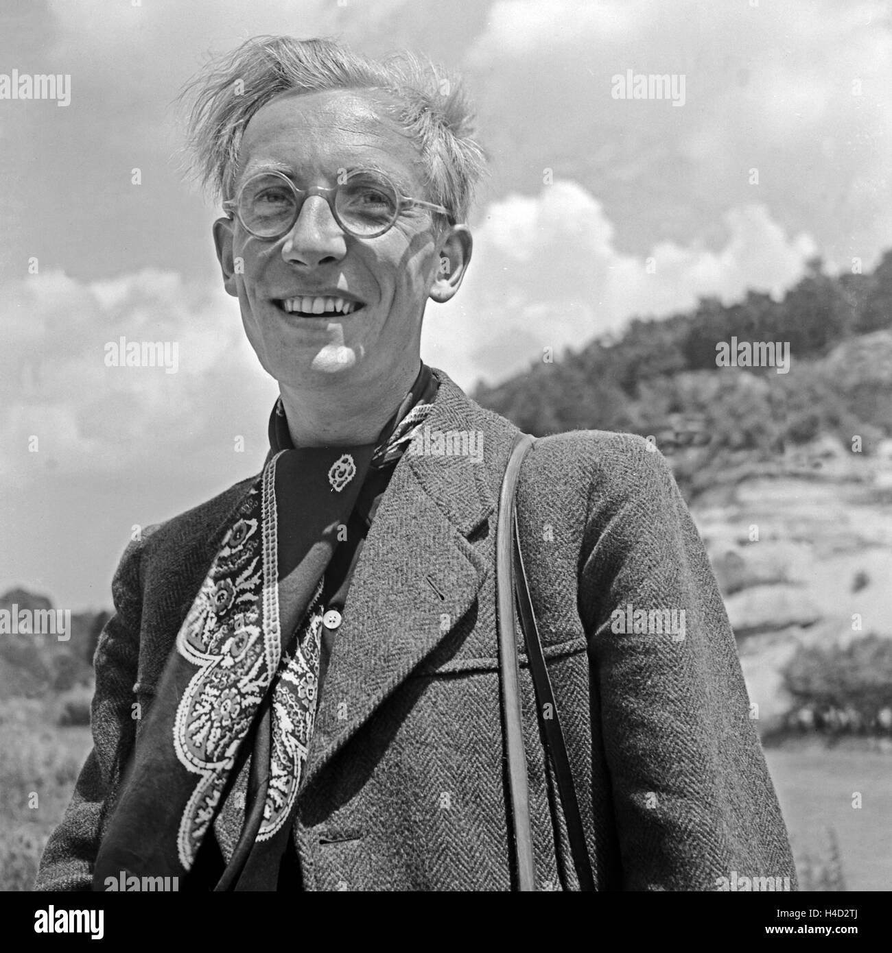 Der Fotograf Karl Heinrich Lämmel, Deutschland 1930er Jahre. The photographer Karl Heinrich Laemmel, Germany 1930s. Stock Photo