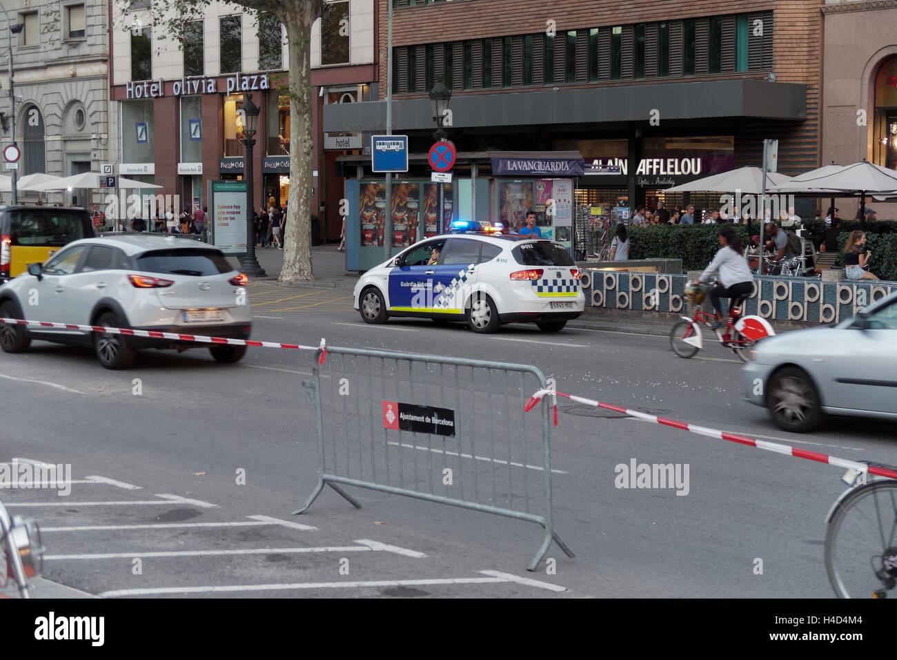 Guardia Urbana Policia, Municipal Police Barcelona, Spain. - Stock Image