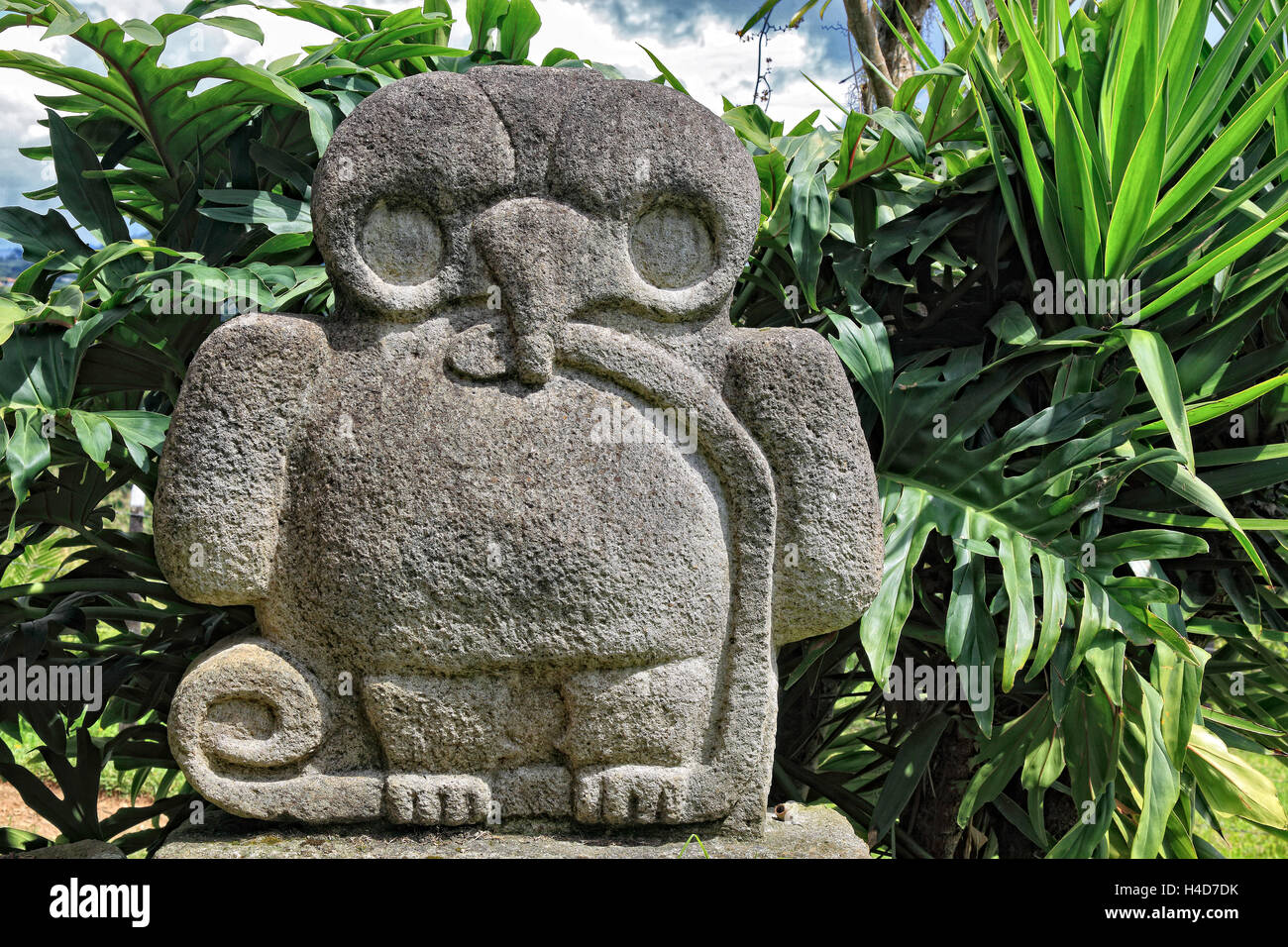 Republic Colombia, San Agustin, Departamento Huila, archaeological excavation site, statue, prehistorically, lava, - Stock Image