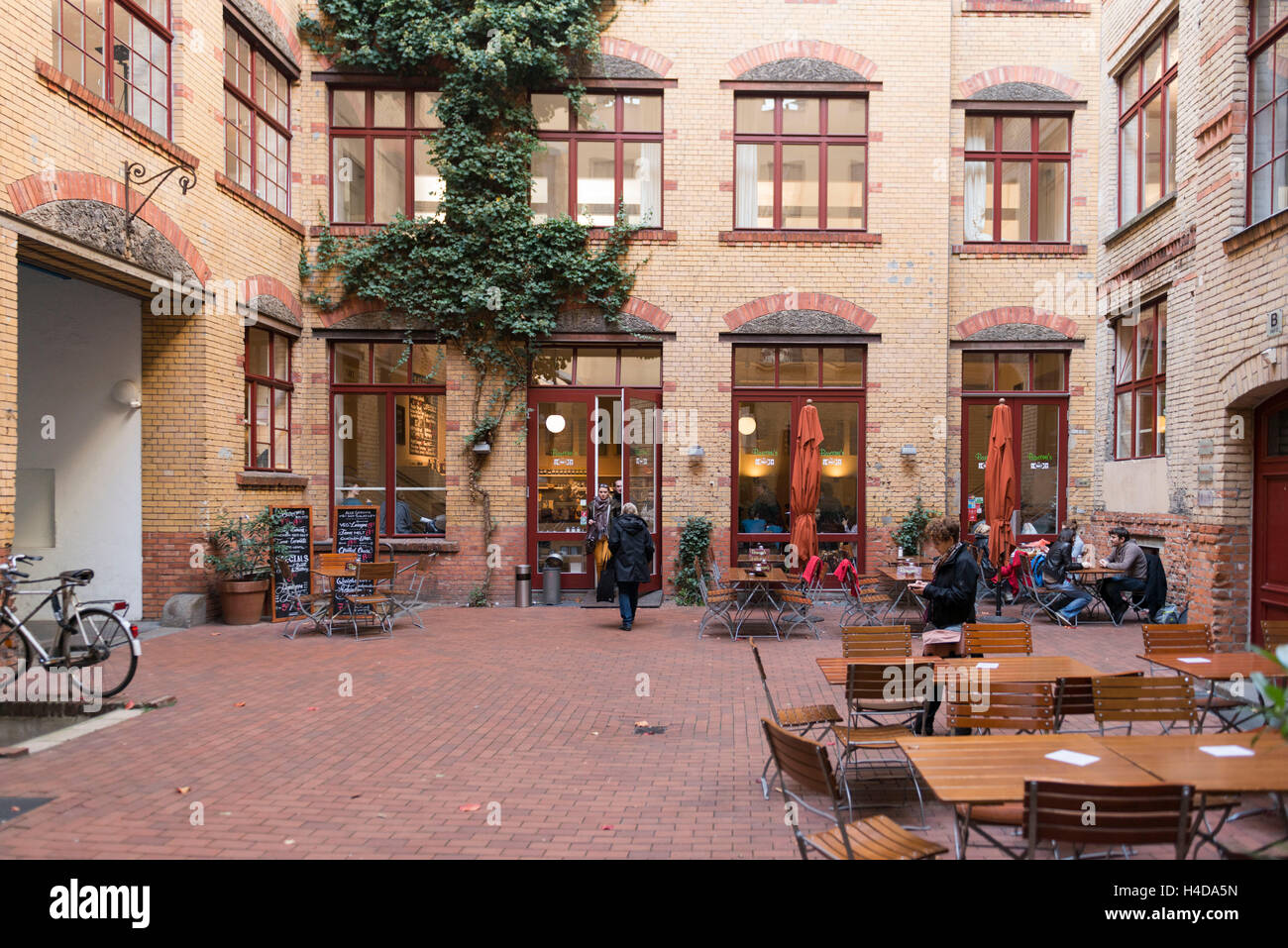 Germany, Berlin, in the Sophie-Gips-Höfe (courts) - Stock Image
