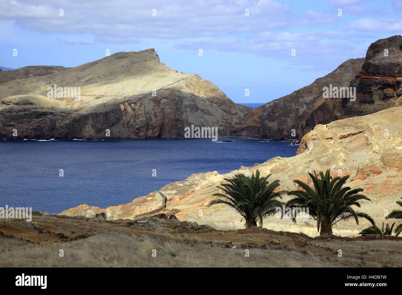 Madeira, in Cap Ponta de Sao Lourenco, scenery at the eastern end the island - Stock Image