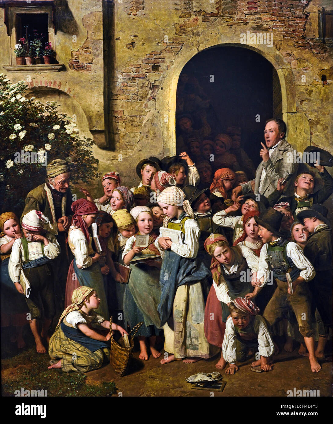 After School 1841 Ferdinand Georg Waldmuller 1793-1865 Austria Austrian - Stock Image