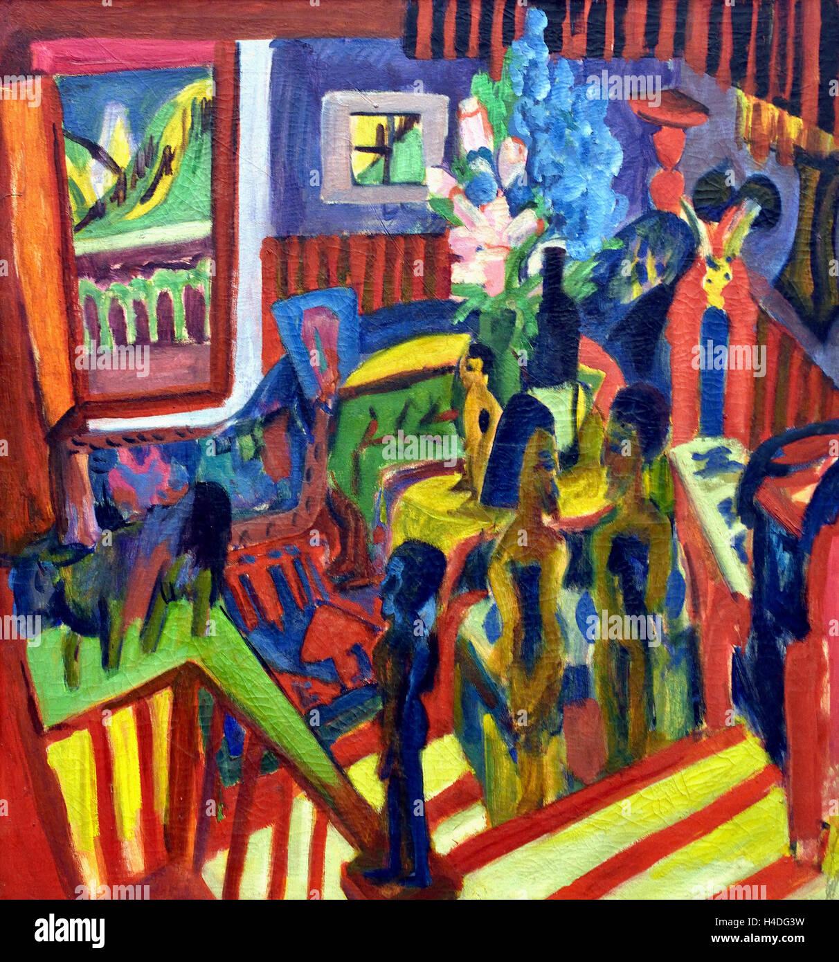 Studio Corner 1919 Ernst Ludwig Kirchner 1880-1938 German Germany - Stock Image