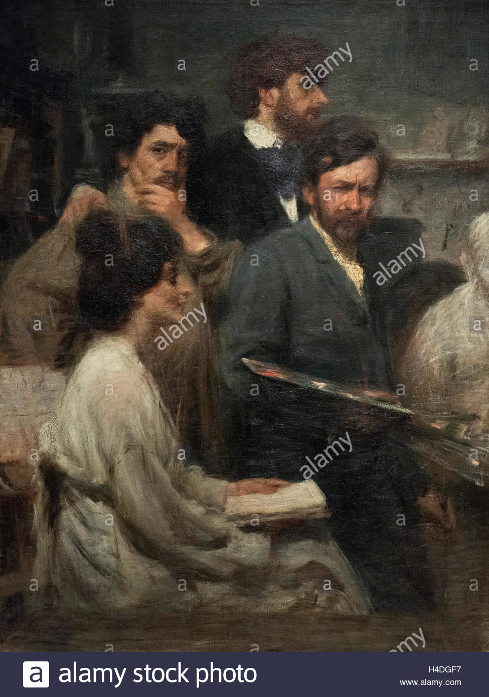 Giacomo Balla (1871-1958), Nello spechhio, 1902. In the mirror. - Stock Image