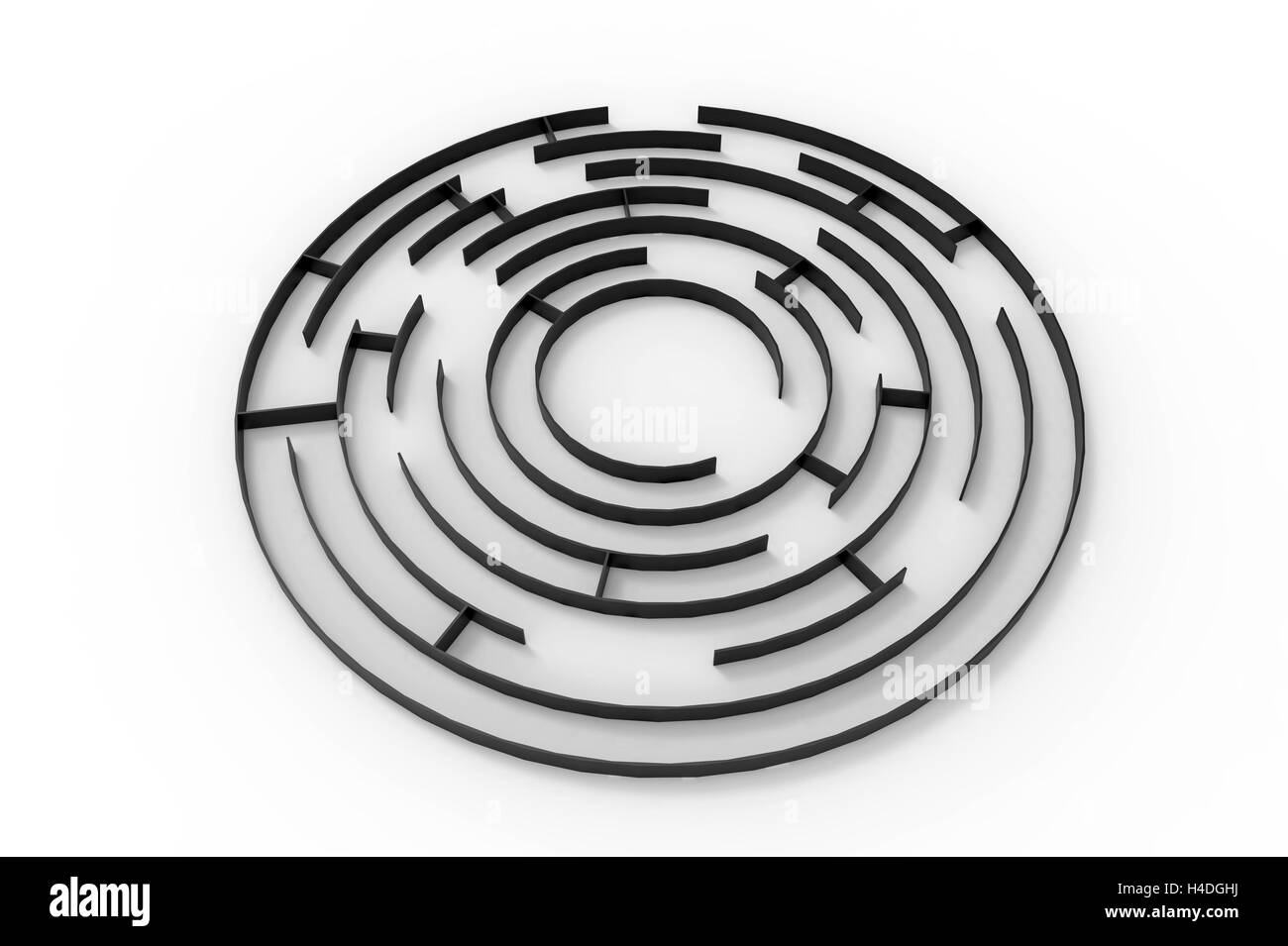 Labyrinth, 3d rendering, isolated on white background Stock Photo ...