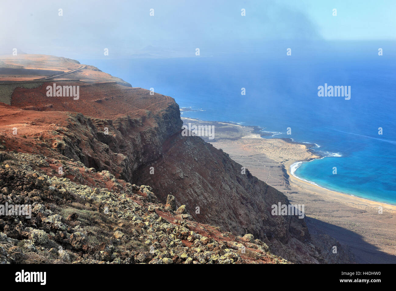 Mirador del Río, an architecturally attractive lookout in the extreme north Lanzarote, Canary islands, Spain - Stock Image