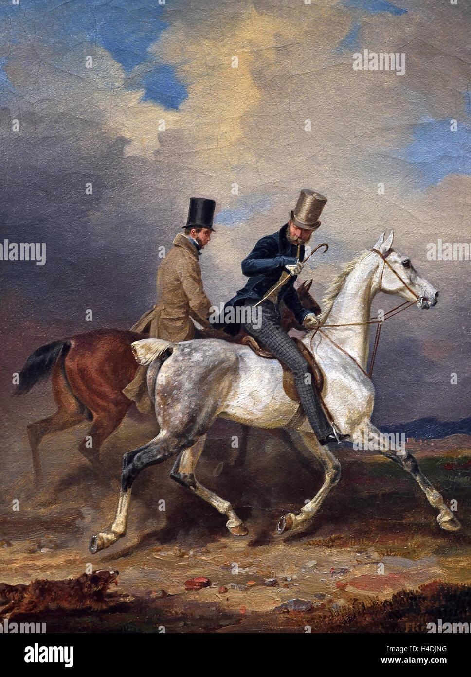 Prince William's ride accompanied by the artist 1836  Franz Krüger 1797 -1857 German Germany - Stock Image