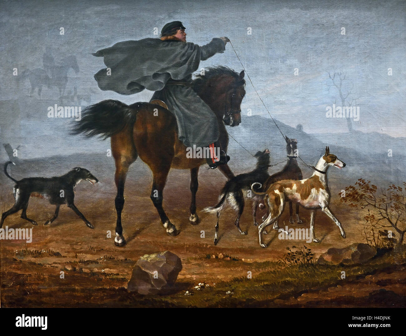 Ausritt zur Jagd - Horseback riding 1819 Franz Krüger 1797 -1857 German Germany ( Ride for the hunting  ) - Stock Image