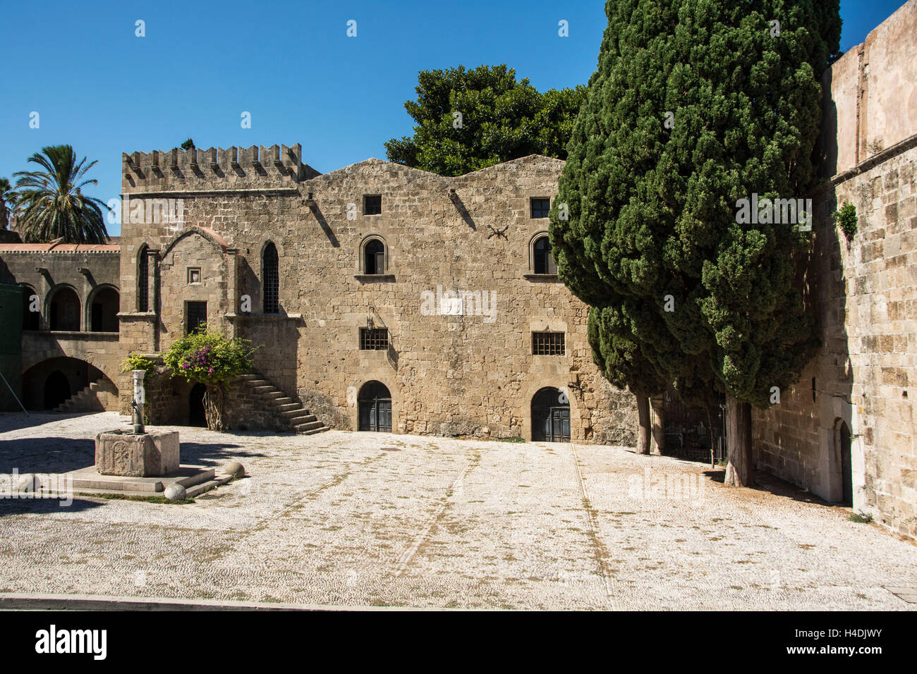 Rhodes, old hospital - Stock Image