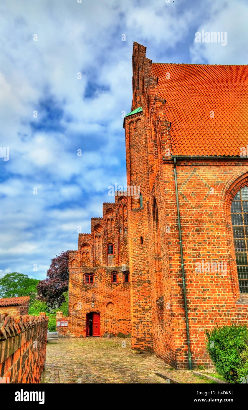 Saint Olaf cathedral in the old town of Helsingor in Denmark - Stock Image